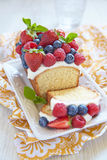 Berry cake with strawberry, raspberry and Royalty Free Stock Photos