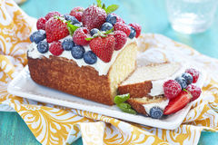 Berry cake with strawberry, raspberry and Royalty Free Stock Image