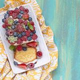Berry cake with strawberry, raspberry and Stock Image
