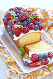 Berry cake with strawberry, raspberry and Royalty Free Stock Images