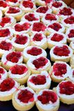 Berry cakes. Selection of fruit cakes on buffet in the hotel Stock Photos