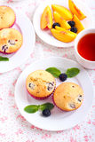 Berry cakes Stock Image