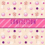 Berry-candy pattern on a light background Royalty Free Stock Photos
