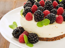 Berry cheesecake Stock Photography