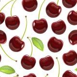 Berry Cherry Background Pattern rosso maturo dettagliato realistico Vettore Immagine Stock Libera da Diritti