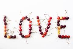 Berry Cherry Pattern imagens de stock royalty free