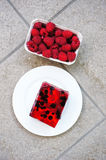 Berry chocolate cake Royalty Free Stock Photo