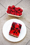 Berry chocolate cake Royalty Free Stock Photography