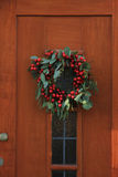 Berry christmas wreath Stock Images