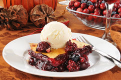 Berry cobbler ala mode Stock Photography