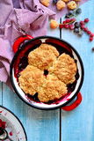 Berry Cobbler misto Immagine Stock