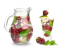 Berry cocktail with mint and ice Royalty Free Stock Photography