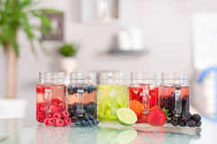 Berry cocktail, refreshing fruit beverage Stock Images
