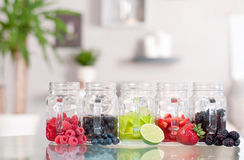 Berry cocktail, refreshing fruit beverage Royalty Free Stock Photo