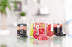 Berry cocktail, refreshing fruit beverage Stock Photos