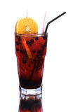 Berry coctail with orange slice Royalty Free Stock Photo