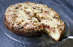 Berry coffee cake Royalty Free Stock Images