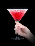 Berry cooler cocktail on a black Royalty Free Stock Image