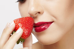 Berry and cosmetics a Stock Photos