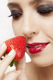 Berry and cosmetics Royalty Free Stock Images