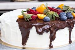 Berry cream cake Royalty Free Stock Photography