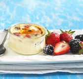 Berry Creme brulee Stock Photography