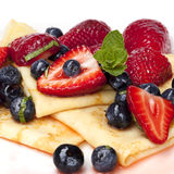 Berry Crepes Royalty Free Stock Photos