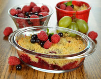 Berry crumble Stock Images