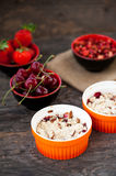 Berry crumble Stock Photography