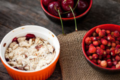 Berry crumble Royalty Free Stock Photo