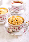 Berry crumble topping cupcakes Royalty Free Stock Images