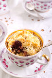 Berry crumble topping cupcakes Royalty Free Stock Photos