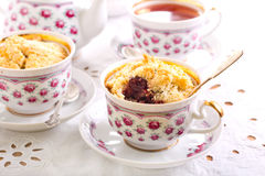 Berry crumble topping cupcakes Stock Images