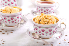 Berry crumble topping cupcakes Stock Photo