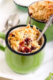 Berry crumble topping cupcakes Royalty Free Stock Photo