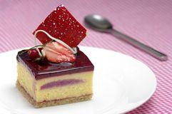 Berry Dessert. A delicious, gourmet berry dessert Stock Photo