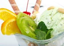 Berry dessert with icecream Royalty Free Stock Photo