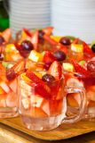 Berry drink in cups Stock Photography