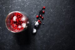 Berry drink with ice stock photos