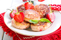Berry fried cakes Stock Images