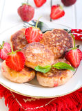 Berry fried cakes Royalty Free Stock Photo
