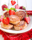 Berry fried cakes Royalty Free Stock Photography