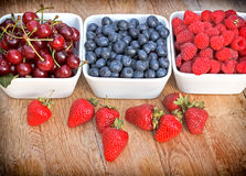 Berry fruit  in bowls Stock Image