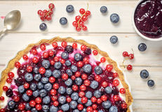 Berry fruit on the cake Royalty Free Stock Image