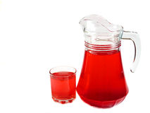 Berry fruit drink in a glass carafeisolated Stock Images