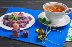 Berry-fruit marmalades cubes Stock Photos