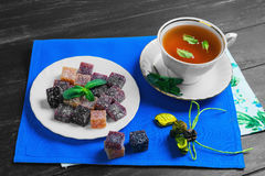 Berry-fruit marmalades cubes Royalty Free Stock Photo