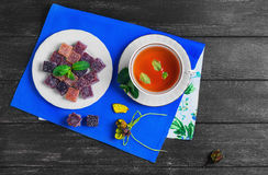 Berry-fruit marmalades cubes Royalty Free Stock Images