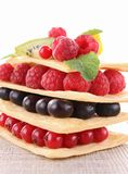 Berry fruit mille feuille Stock Photo