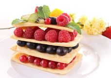 Berry fruit mille feuille Stock Images
